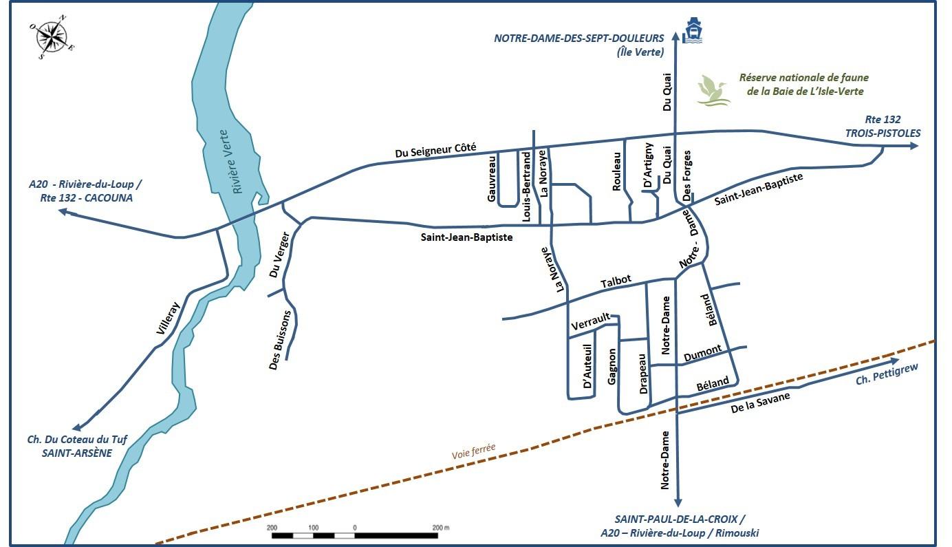 Carte secteur urbain L'Isle-Verte 2017