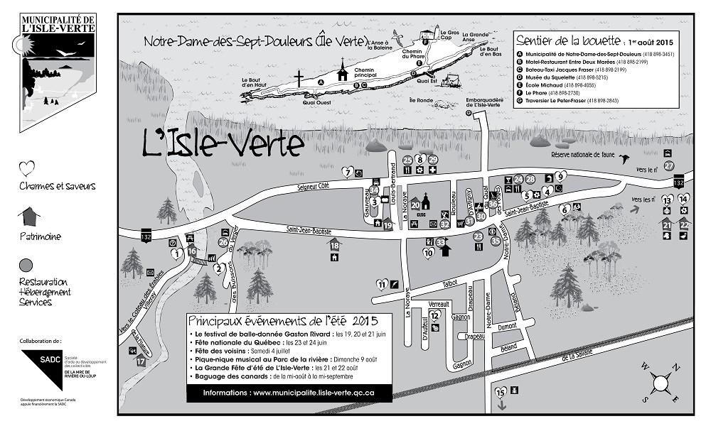 Carte touristique 2013