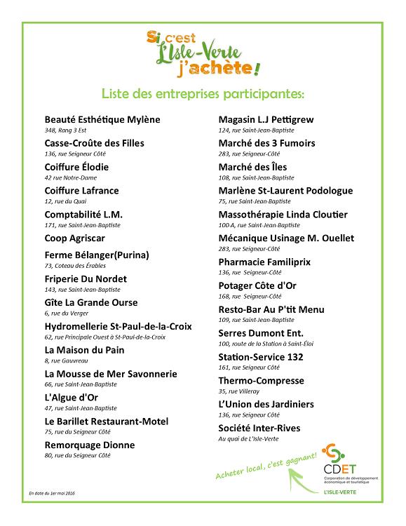 Liste des entreprises PAL 2016 (PNG) (Auteur : CDET)