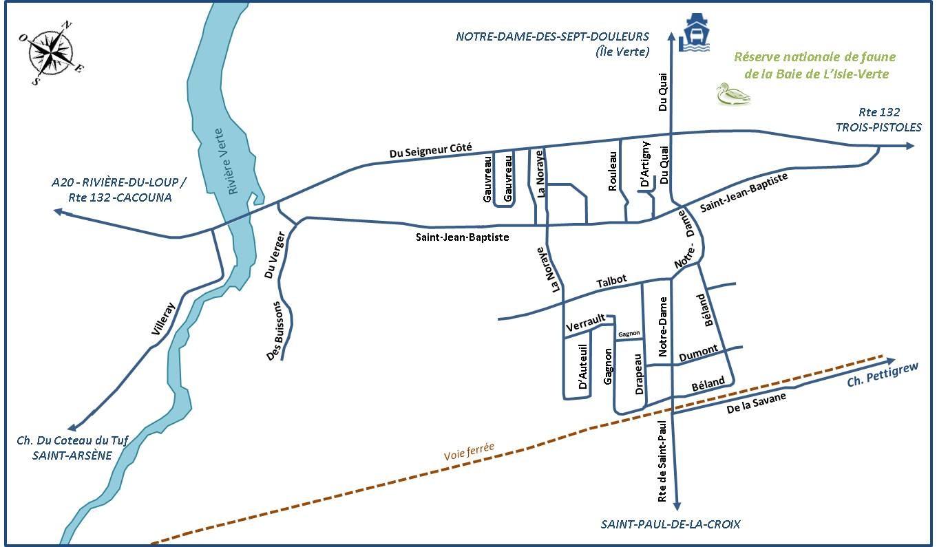 Carte du périmètre urbain de L'Isle-Verte