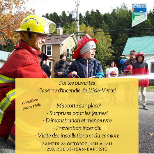 Activité portes ouvertes avec les pompiers