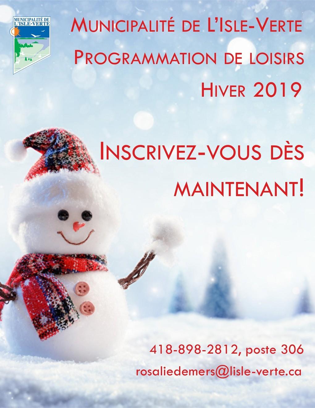 prog hiver 2019 affiche